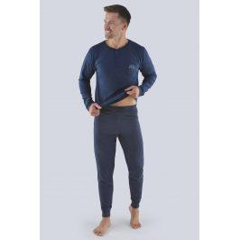 Pánské pyžamo Lukáš  šedomodrá