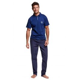 Pánské pyžamo s límečkem Vote  modrá