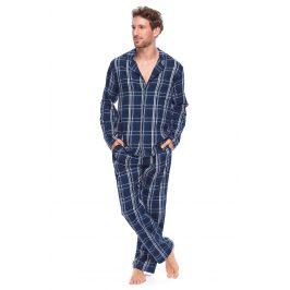 Pánské kabátkové pyžamo Alan  tmavěmodrá