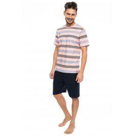 Pánské pyžamo RÖSSLI Stripes  modrorůžová