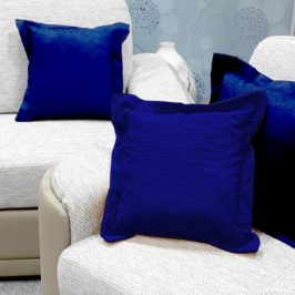 Dekorační polštář modrý 40x40 cm modrá