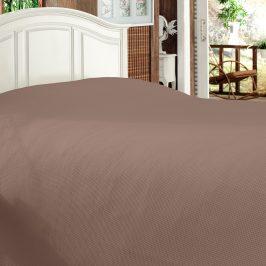 Luxusní přehoz na postel Bamboo hnědý 170x210 cm hnědá