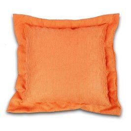 Dekorační polštář oranžový 40x40 cm oranžová