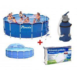 Velký rodinný bazén na zahradu 3,66x0,76 m. s filtrací Prostar 2 + podložka + zastínění