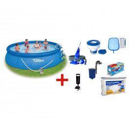 Velký bazén na zahradu Tampa 4,57x1,22 m s kartušovou filtrací a příslušenstvím