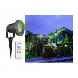 Vánoční laserový projektor - zelená/červená - 20 x 20 m s časovačem OEM AT53748