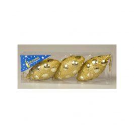 Marimex | Vánoční šiška se zrcátky 12 cm - zlatá | 18000256