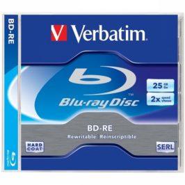 Verbatim BD-RE SL 25GB, 2x, jewel box, 5ks (43615)