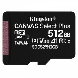 Kingston MicroSDXC 512GB UHS-I U1 (100R/85W) (SDCS2/512GBSP)