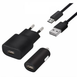 Forever 1x USB + adaptér do auta 1x USB + Micro USB kabel 1,2m