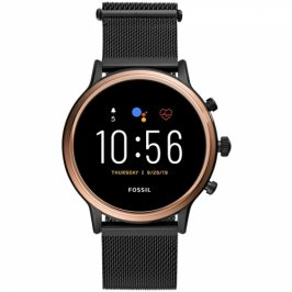 Fossil FTW6036 HR - Black stainless steel (FTW6036_Female_mash black)