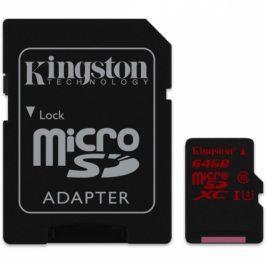 Kingston 64GB UHS-I U3 (90R/80W) + adapter (SDCA3/64GB)