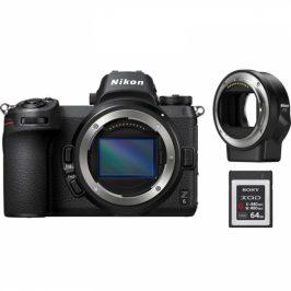 Nikon Z6 + adaptér bajonetu FTZ + 64 GB XQD karta (VOA020K008)