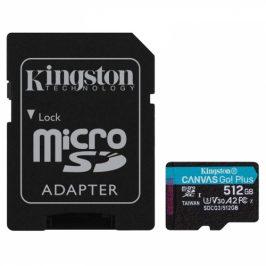 Kingston MicroSDXC 512GB UHS-I U3 (170R/90W) + adaptér (SDCG3/512GB)