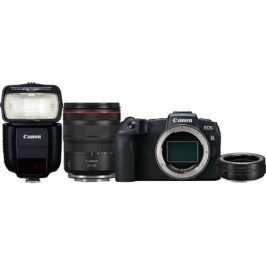 Canon RP + M 24-105 L IS USM + adapter + blesk 430EX III-RT