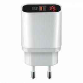 Forever Core 1x USB QC 3.0, 1x USB-C PD, 20W s digitálním displejem (GSM045483)