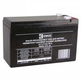 EMOS bezúdržbový 12 V/9 Ah, faston 6,3 mm (B9675)