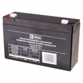 EMOS bezúdržbový 6 V/12 Ah, faston 4,7 mm (B9682)
