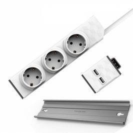 Powercube Modular Switch 1,5 m + USB modul + Rail