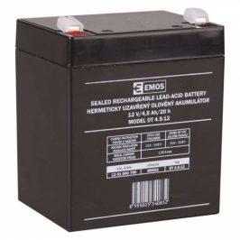 EMOS bezúdržbový 12 V/4,5 Ah, faston 4,7 mm (B9653)