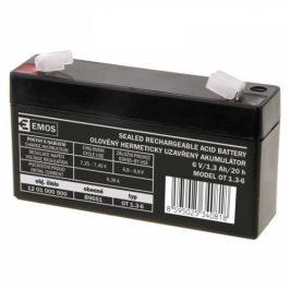 EMOS bezúdržbový 6 V/1,3 Ah, faston 4,7 mm (B9651)