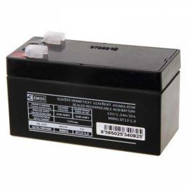 EMOS bezúdržbový 12 V/1,3 Ah, faston 4,7 mm (B9652)