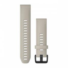 Garmin QuickFit 20mm pro Fenix5S/6S, silikonový, béžový, černá přezka (010-12869-00)