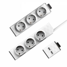 Powercube Modular Switch 1,5 m + Zásuvkový modul + USB modul