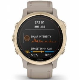 Garmin fenix6S PRO Solar - Light Gold/Sand Band (MAP/Music) (010-02409-91)