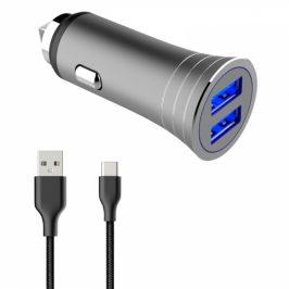 WG 2xUSB, 3.1A + USB-C kabel (7159)