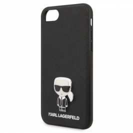 Karl Lagerfeld Saffiano Iconic na Apple iPhone 8/SE (2020) (KLHCI8IKFBMBK)