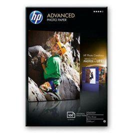 HP Advanced Photo Paper, lesklý, 10 x 15cm, bez okraj, 100 listů, 250 g/m2 (Q8692A)