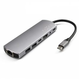 FIXED USB-C/2x USB3.0, 1x HDMI, 1x Audio 3,5 mm, 1x USB-C PD, 1x USB-C Gen1, 1x RJ-45 (FIXHU-7IN1)
