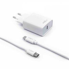 FIXED USB-C PD, 18W + USB-C kabel 1m (FIXC18-CC-WH)