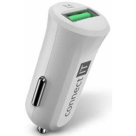 Connect IT InCarz, 1x USB (3A), s funkcí rychlonabíjení QC 3.0 (CCC-5010-WH)