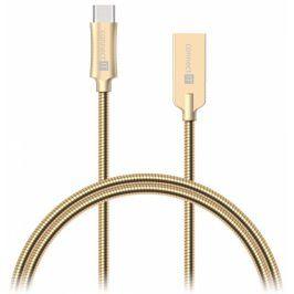 Connect IT Wirez Steel Knight USB/USB-C, ocelový, opletený, 1m (CCA-5010-GD)