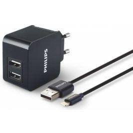 Philips 2x USB, 3,1A + Lightning kabel 1m (DLP2307V/12)