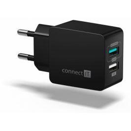 Connect IT Fast Charge 2x USB, 3,4A s funkcí rychlonabíjení (CWC-2015-BK)