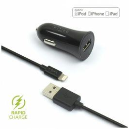 FIXED 1x USB, 2,4A + Lightning kabel (FIXCC-UL-BK)