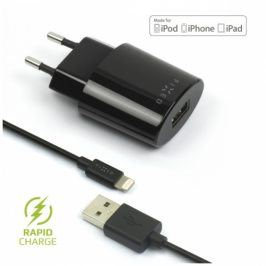 FIXED 1x USB, 2,4A + Lightning kabel (FIXC-UL-BK)