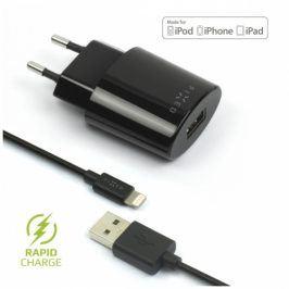 FIXED 1x USB, 2,4A + Lightning kabel (FIXC-UL-BK)