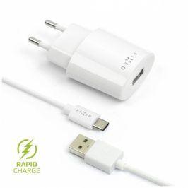 FIXED 1x USB, 2,4A + USB-C kabel (FIXC-UC-WH)