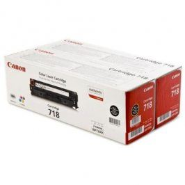Canon CRG-718Bk, 2 x 3,4K stran - originální (2662B005)