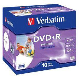 Verbatim DVD+R 4,7GB, 16x, jewel box, 10ks (43508)