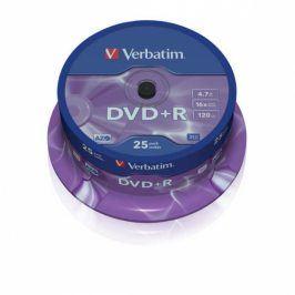 Verbatim DVD+R 4,7GB, 16x, 25cake (43500)