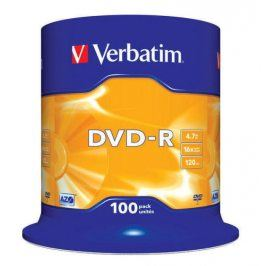 Verbatim DVD-R 4,7GB, 16x, 100cake (43549)