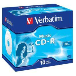 Verbatim CD-R 700MB/80 min. AUDIO LIVE IT!, 10ks (43365)