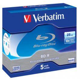 Verbatim BD-R SL 25GB, 6x, jewel box, 5ks (43715)