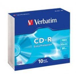 Verbatim CD-R 700MB/80min, 52x, slim, 10ks (43415)
