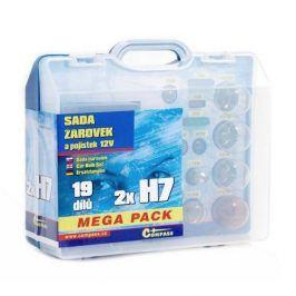 Compass 12 V servisní box MEGA H7+H7+pojistky